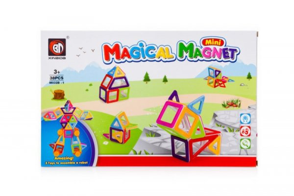 Klocki magnetyczne MAGICAL MAGNET MINI 38szt 3+ v3