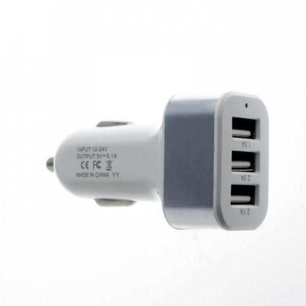 Adapter zapalniczki samochodowej USB 2.1A 2.0A 1.0A