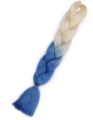 Włosy syntetyczne tęczowe ombre blond-siwy