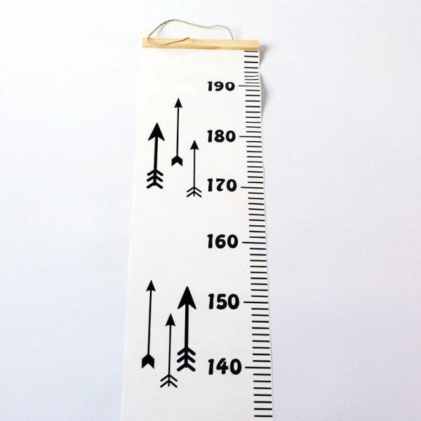 Miarka wzrostu płótno wisząca 20x200cm strzałki