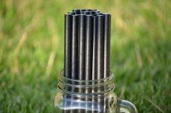 Ekologiczne słomki z papieru do picia PREMIUM 8 mm x 197mm czarne