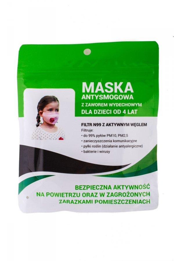 maseczka z filtrem węglowym dla dziecka