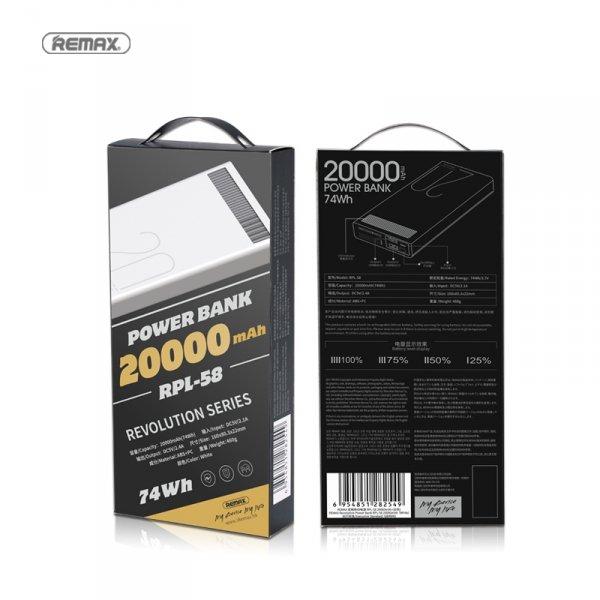 Rewolucyjny powerbank 20000 mAh Remax