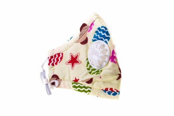 Maska przeciwpyłowa dziecięca 'beżowa' z dwoma filtrami PM 2,5