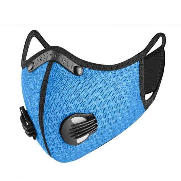 maseczka do biegania z filtrami błękitna