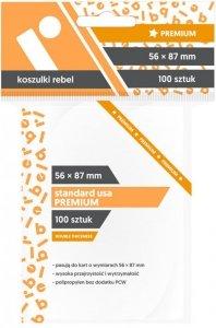Koszulki na karty Rebel (56x87 mm) Standard USA Premium, 100 sztuk