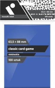 Koszulki na karty Rebel (63,5x88 mm) Classic Card Game, 100 sztuk, Niebieskie
