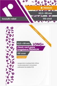Koszulki na karty Rebel (63,5x89 mm) Classic Card Game Longsleeve Premium, 100 sztuk