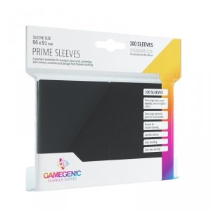 Gamegenic: Prime CCG Sleeves (66x91 mm) - Black, 100 sztuk