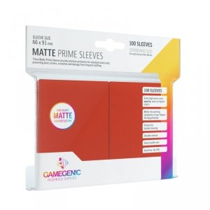 Gamegenic: Matte Prime CCG Sleeves (66x91 mm) - Red, 100 sztuk