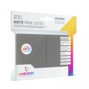 Gamegenic: Matte Prime CCG Sleeves (66x91 mm) - Dark Gray, 100 sztuk