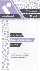 Koszulki na karty Rebel (63,5x88 mm) Classic Card Game Light, 100 sztuk