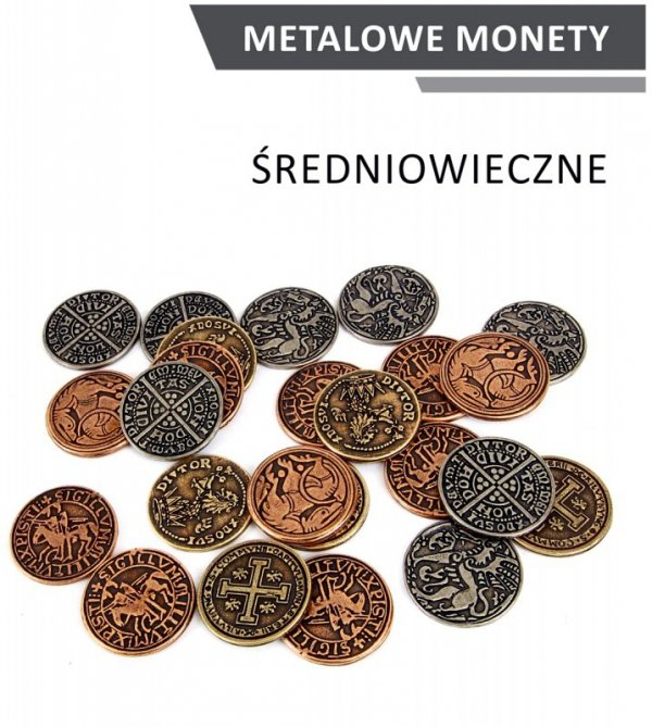 Metalowe monety - Średniowieczne (zestaw 24 monet)