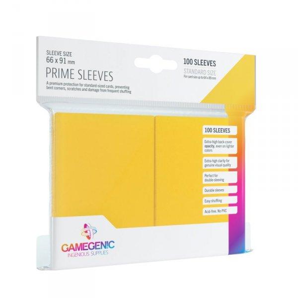 Gamegenic: Prime CCG Sleeves (66x91 mm) - Yellow, 100 sztuk