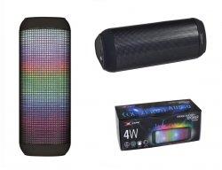 Głośnik bezprzewodowy Bluetooth X-ZERO X-S1836BK 4W, kolorowe podświetlenie
