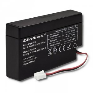 Akumulator AGM Qoltec | 12V | 0.8Ah | max.12A