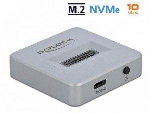 Stacja dokująca SSD Delock M.2 NVME - USB 3.2 F szara