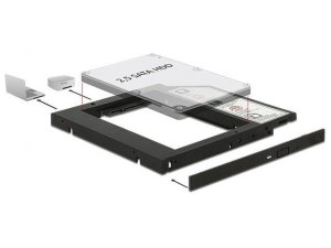 "Adapter Delock HDD Ramka 5.25""->2.5"" SLIM 9.5MM ( HDD w miejsce CD/DVD w notebooku)"