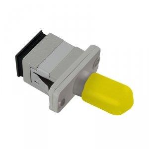 Adapter światłowodowy hybrydowy Qoltec SC/UPC-ST/UPC simplex SingleMode
