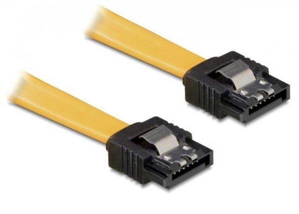 Kabel Delock SATA DATA 0,2m z zatrzaskami metalowymi
