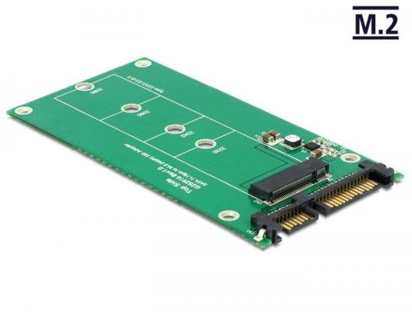 Adapter Delock SATA 22-pin (M) -> M.2 NGFF Key B 67-pin