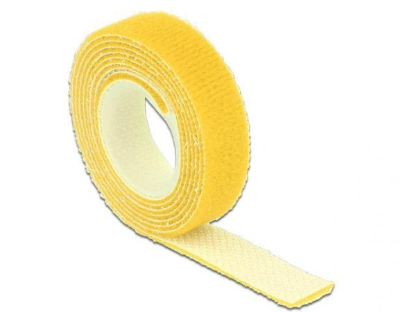 Organizer kabli Delock - rzep 1m x 13mm żółty