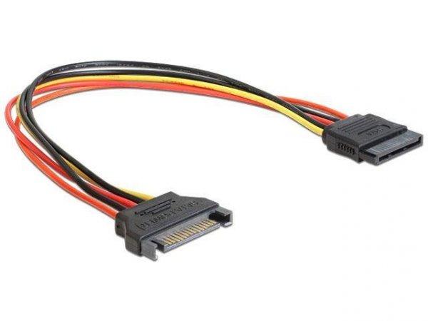 Przedłużacz kabla zasilającego Delock SATA 15PIN M/F 0,5m
