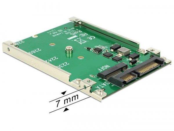 """Adapter Delock SATA 22pin -> M.2 NGFF na płytce 2.5"""""""