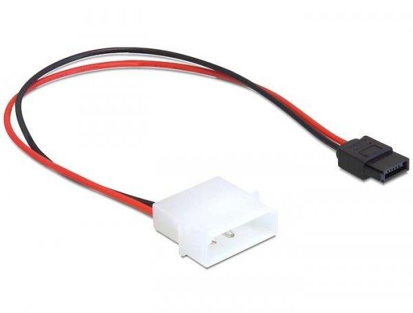 Kabel zasilający SATA Delock Molex 4-pin (M) -> Slim SATA 6-pin (F) 0,24m