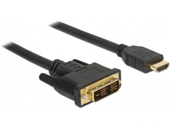 Kabel adapter Delock DVI-D(M)(18+1) - HDMI(M) v1.2 2m czarny