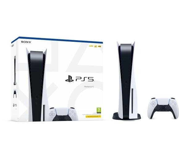 SONY PlayStation PS5 z napędem Blu-Ray + 5 gier