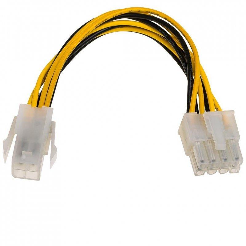 Kabel adapter Akyga AK-CA-10 P4 4-pin (F) - P8 4+4pin (M) 0,15m