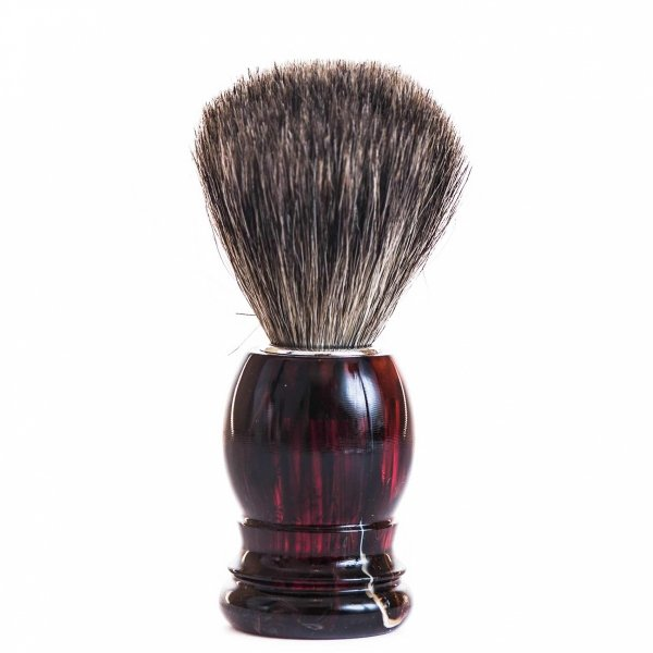 Pędzel do golenia z borsuka-bursztyn