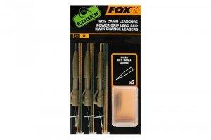 Fox EDGES 50LB CAMO LEADCORE POWER GRIP LEAD CLIP KWIK CHANGE LEADERS CAC754