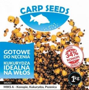 Carp Seeds Miks A – konopie, pszenica, kukurydza – 1 kg