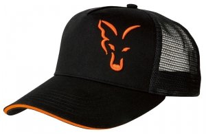 CZAPKA Fox Black & Orange Trucker Cap