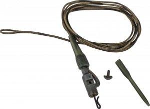 Prologic Safetly Clip QC Swivel Hollow Leader 80cm 45lbs 3szt. 50150