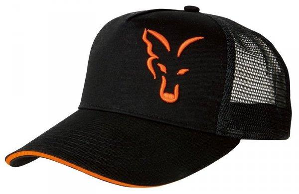 CZAPKA Fox Black & Orange Trucker Cap CPR924
