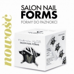 NOWE Czarne Szablony, formy do przedłużania paznokci 100 szt - Victoria Vynn