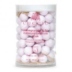 Kulki musujące do manicure - Figa i Granat 100 szt Cuccio - Zmiękczają, odświeżają i nawilżają