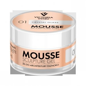 ŻEL DO ARCHITEKTURY PAZNOKCI MOUSSE SCULPTURE GEL 01 – CRYSTAL GLASS 50 ML VICTORIA VYNN