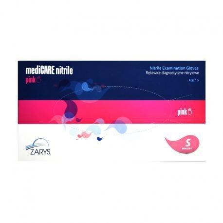 KARTON - 1000 szt - Rękawice do manicure nitrylowe różowe bezpudrowe (cena hurtowa)