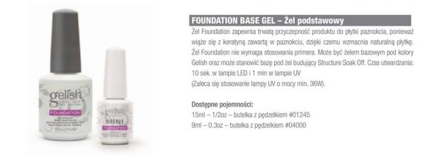 Baza pod hybrydę Gelish Foundation Base Soak Off 15ml