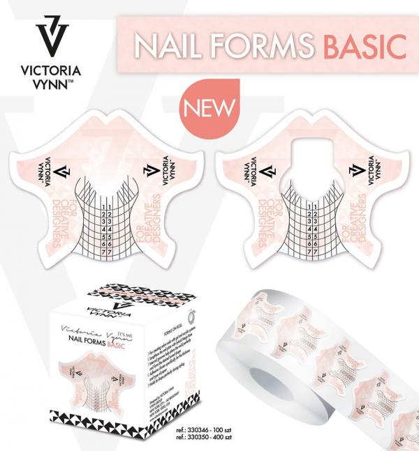 Szablony, formy do przedłużania paznokci 100 szt - Victoria Vynn