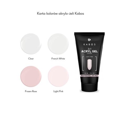 Kabos 2in1 Akrylo-żel French Frozen Rose , 30ml ()