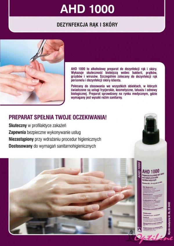 Płyn do dezynfekcji rąk i skóry na bazie alkoholu AHD 1000 - 250m - wyrób medyczny