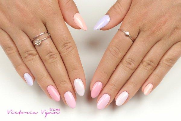 Lakier hybrydowy Peach Desire 8 ml (201) Victoria Vynn - pastelowe