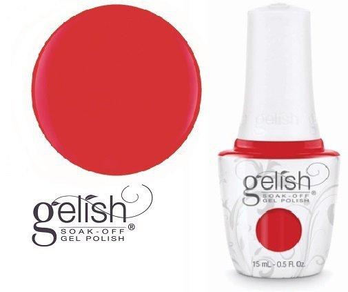 fire cracker gelish laker piękna czerwień klasyczna