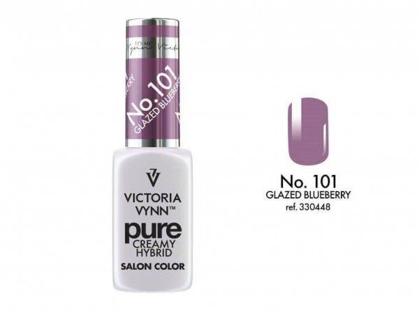 101 Glazed Blueberry - kremowy lakier hybrydowy Victoria Vynn PURE (8ml)