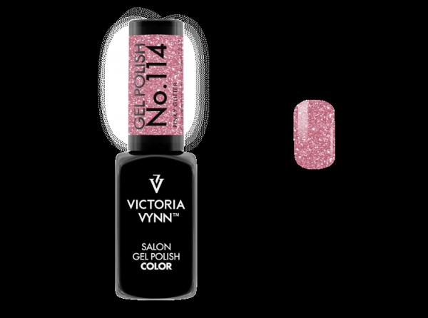 114 Pinky Glitter Lakier Hybrydowy Victoria Vynn Gel Polish
